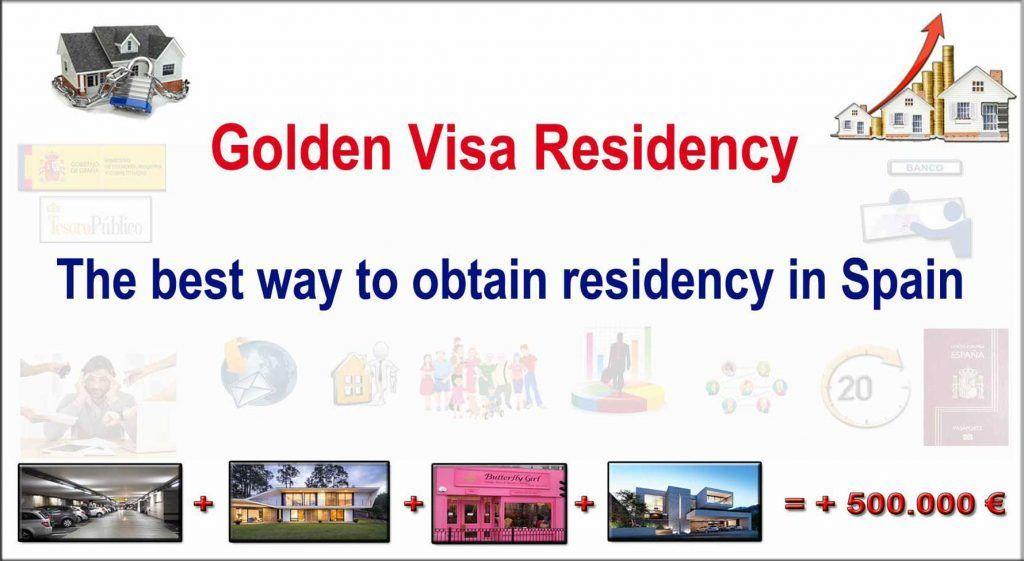 Residence permit in Spain for Golden Visa