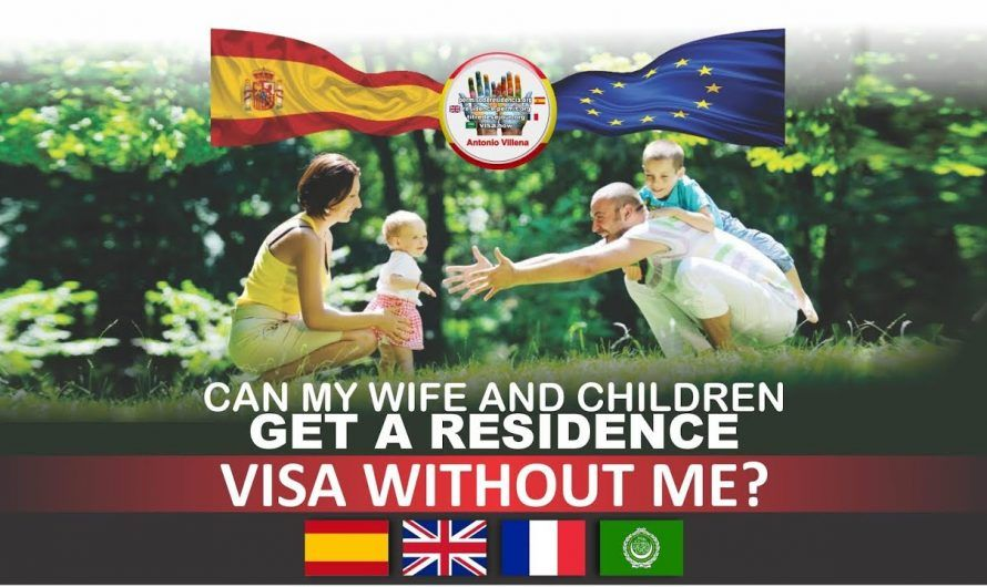 Can my children and wife live in Spain without me?
