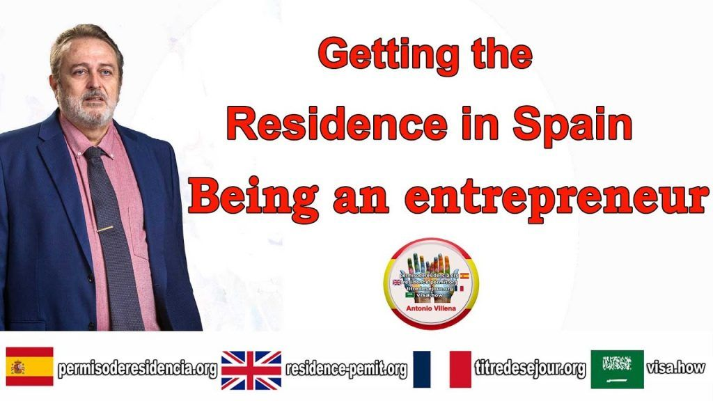 Getting the residence in Spain being an entrepreneur
