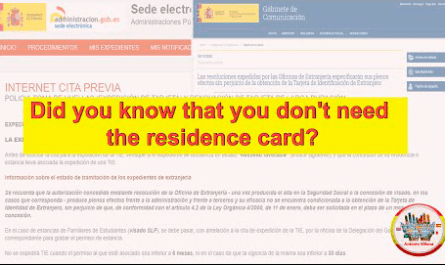 Did you know that you don't need the residence card ?